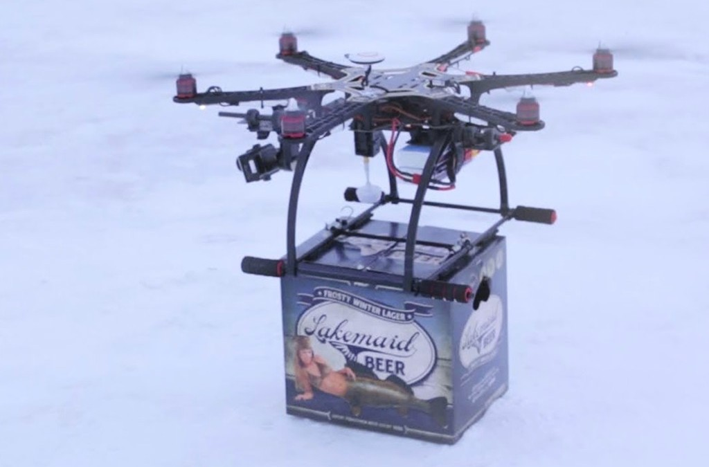 Beer-delivering Drone Grounded