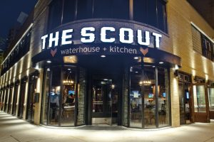 photo of the front of The Scout Bar in Chicago